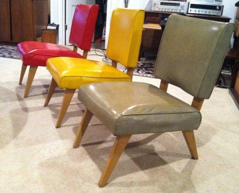 Vintage 50s Viking Artline Slipper ChairEPOCH