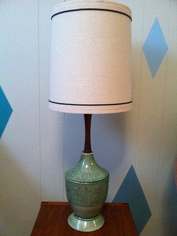 mid century ceramic lamp - Mid Century Lamp