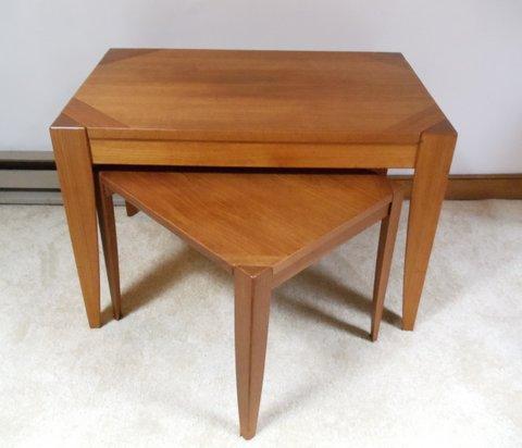 Danish Teak Nesting Tables by Vejle Stole for Mobelfabrik
