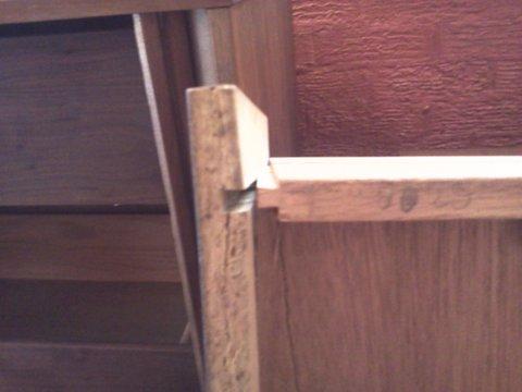 broken sliding dovetail joint