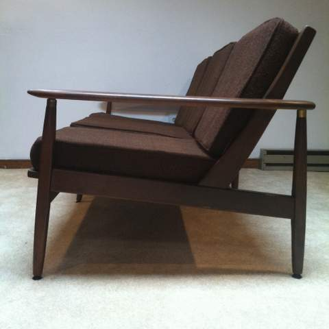 mid century danish modern sofa