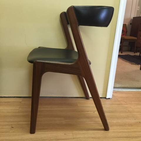 danish modern dining chairs kai kristiansen