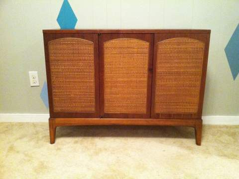 Mid-Century Modern Cabinet with Woven Front by Lane Rhythm - EPOCH