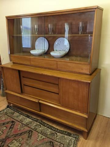 Mid Century China Cabinet By Thomasville