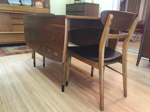 Mid Century Lane Acclaim Drop Leaf Table Six Chairs Epoch