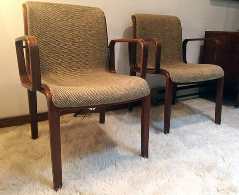 Awesome Mid Century Bentwood Chairs By Stephens For Knoll