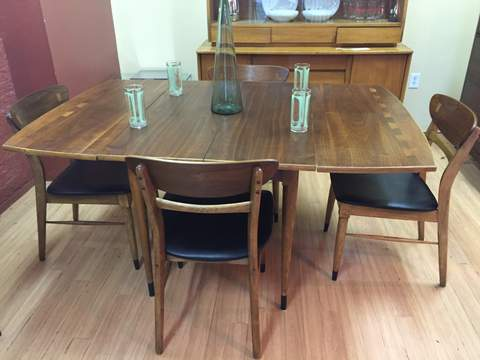 Mid Century Dining Set Lane Acclaim Drop Leaf