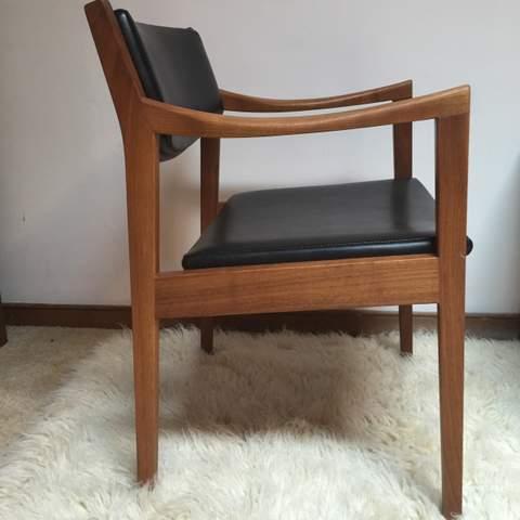 midcentury walnut armchair