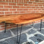 live edge cherry wood slab coffee table