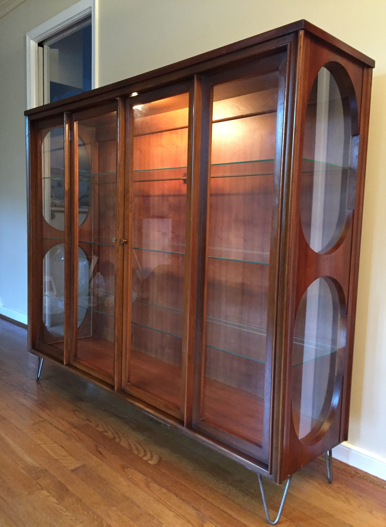 Mid Century Curio Cabinet by Kent Coffey at EPOCH