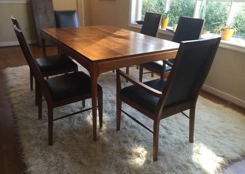 Mid Century Dining Set Eight Chairs By Lane Rhythm