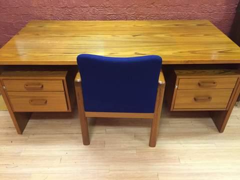 Danish Modern teak executive desk