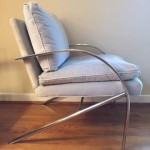 bernhardt flair chairs 70's chrome & velvet
