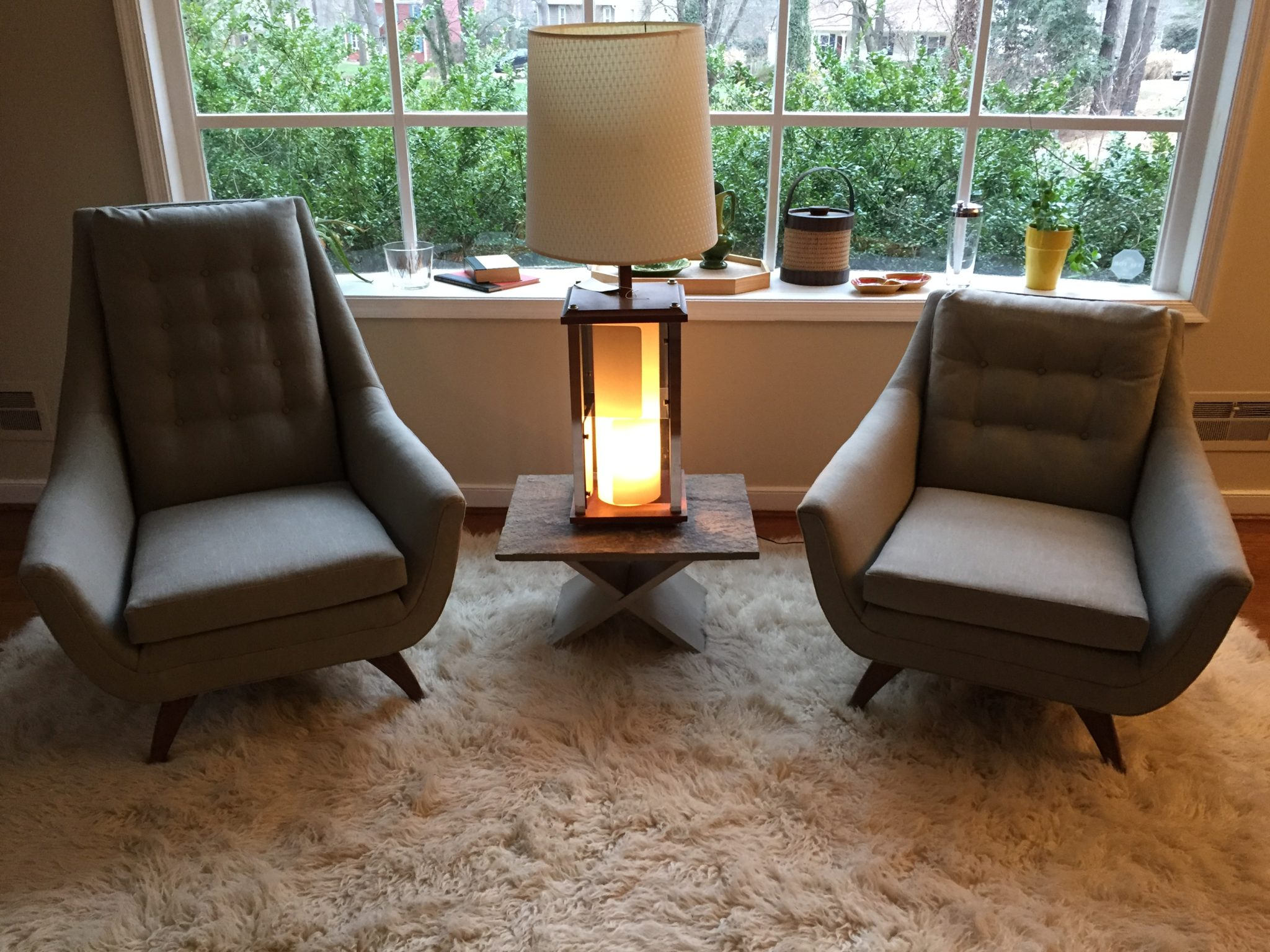 Mid Century Modern Pair of Adrian Pearsall Lounge Chairs EPOCH