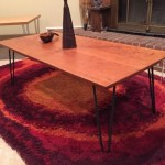 handcrafted cherry coffee table hairpin legs