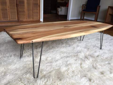 surfboard coffee table in hickoryepoch - epoch