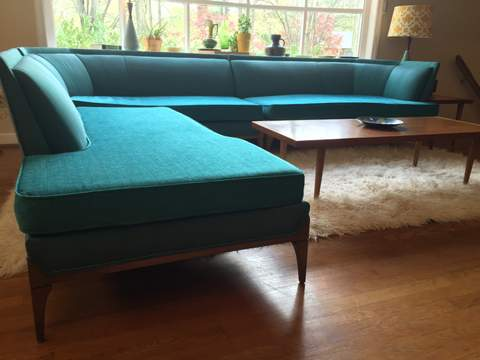 Vibrant Mid Century Modern Sectional Sofa EPOCH
