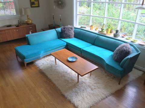 Vibrant Mid Century Modern Sectional Sofa - EPOCH