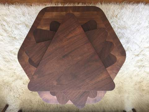 mid century nesting coffee table