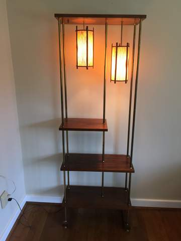 Mid Century Modern Shelving Unit With Built In 3 Way