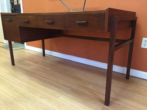 walnut framed executive desk