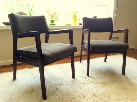 Fine Walnut Framed Mid Century Armchairs By Alma Desk Company Epoch Ibusinesslaw Wood Chair Design Ideas Ibusinesslaworg