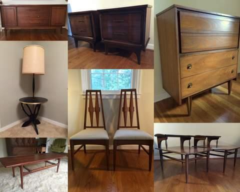 vintage mid-century modern furniture at Epoch Furnishings