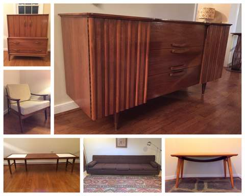 Mid Century Modern and Danish Modern vintage furniture