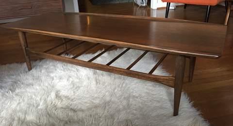 MidCentury Modern Bassett Artisan Coffee Table in Walnut EPOCH
