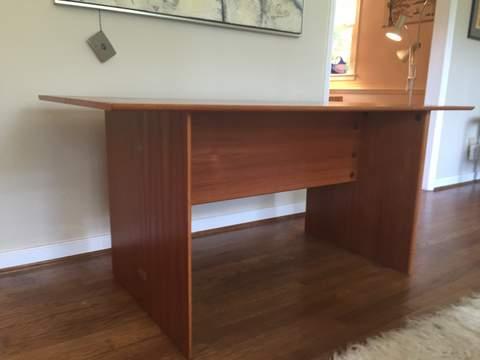 vintage danish modern compact drop leaf table