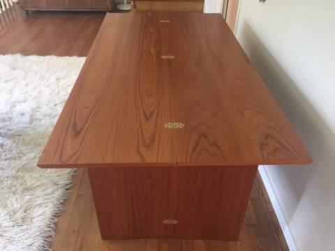... Vintage Danish Modern Compact Drop Leaf Table