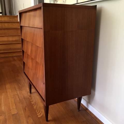 Mid Century Modern Louvered Drawer Dresser By Ward