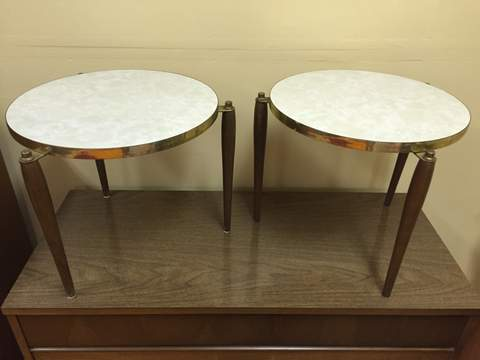 Mid Century Modern Circular Accent Tables