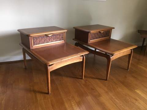 Vintage Mid Century Lane Perception Side Tables Epoch