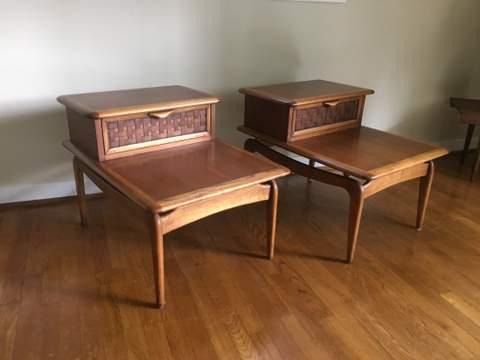 Vintage Mid Century Lane Perception Side Tables
