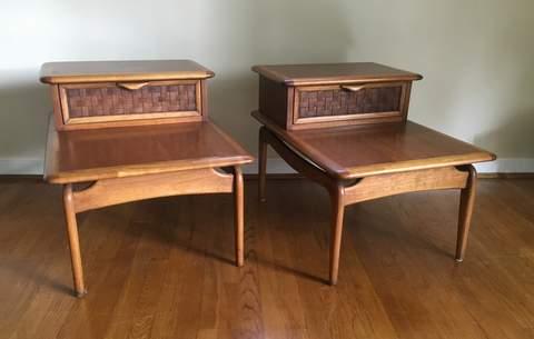 Mid Century Modern Lane Perception Step Tables Vintage Mid Century Lane  Perception Side Tables
