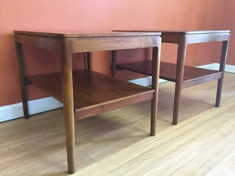 midcentury modern drexel declaration end tables