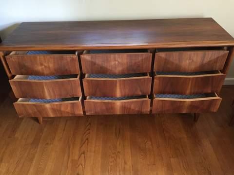 ... Mid Century Modern Diamond Front Dresser Set By Vladimir Kagan For  United Furniture
