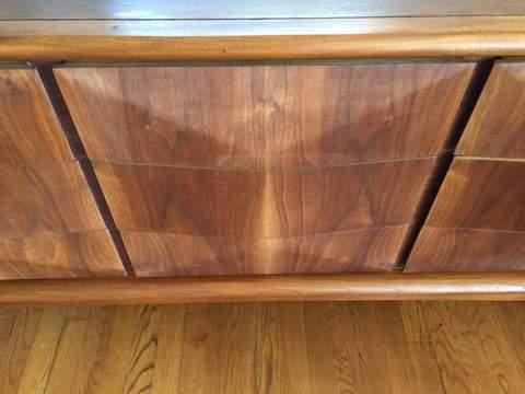 Mid Century Modern Diamond Front Dresser Set By Vladimir Kagan For United  Furniture ...