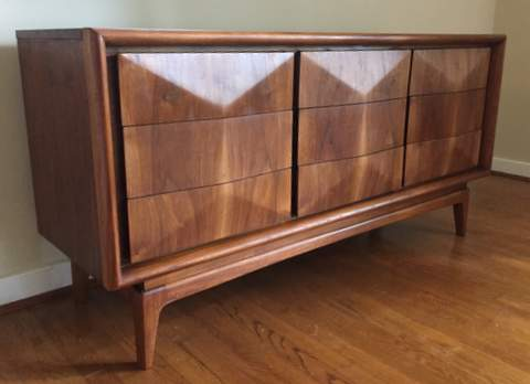 Mid Century Diamond Series Dresser By Vladimir Kagan For United