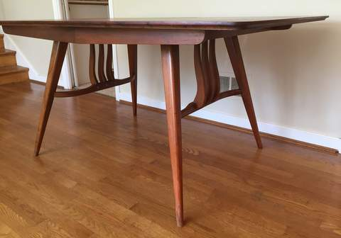 Mid Century Modern Dining Table With Leaf
