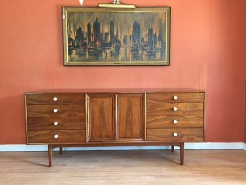 0bc8a4936f44d Drexel Declaration Lowboy Triple Dresser by Kipp Stewart   MacDougall. Sold  For 899.00