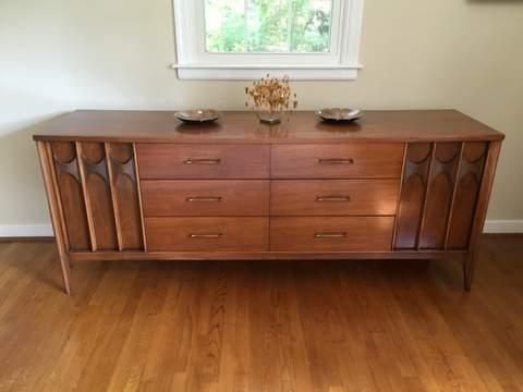 Mid Century Modern Quadruple Lowboy Dresser By Kent Coffey