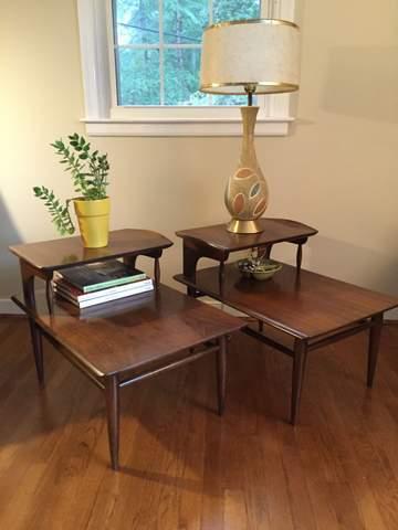 Mid Century Modern Side Tables Bassett Artisan EPOCH - Midcentury modern side table
