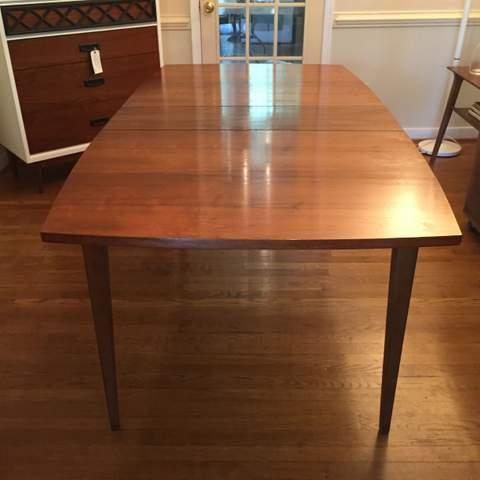 vintage mid century modern walnut dining table at epoch