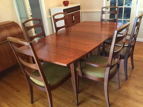 mid century modern walnut surfboard dining table - Mid Century Modern Dining Room Tables