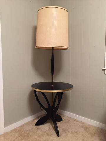 mid century atomic age lamp table