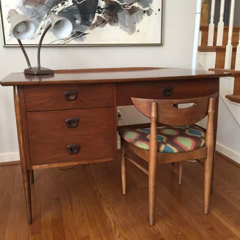 Mid Century Modern Walnut Desk From The Artisan