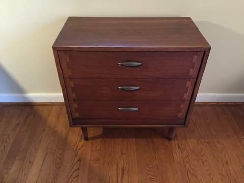 mid century modern vintage album storage cabinet