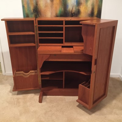vintage teak desk in a box